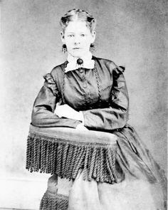 Tillie Pierce.   Gettysburg resident who help car for the wounded after the fighting at the Roundtops.  She wrote a book about her experience
