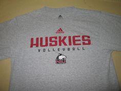 TEAM ISSUE Northern Illinois Huskies Volleyball NCAA T Shirt - M Medium - Adidas #adidas #NorthernIllinoisHuskies