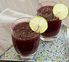 CHIA: TINY SEED, BIG BENEFITS Pomegranate lime chia fresca recipe