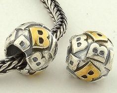 CLLE03SB 925 Sterling Silver Alphabet letter B Pandora Charms beads Pandora Letters