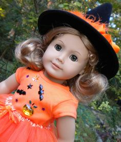 """Items similar to Halloween Tutu set for American Girl or other 18"""" dolls on Etsy"""