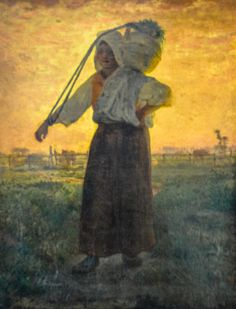 All sizes | Jean Francois Millet - The Return from the Farm, 1850 at Galleria d'Arte Moderna di Milano - Milan Italy | Flickr - Photo Sharing!