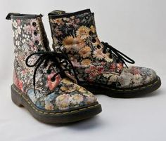 i had these flower docmartens when i was little! i want them now please!