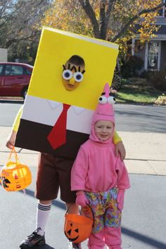 coolest homemade spongebob and patrick star costumes