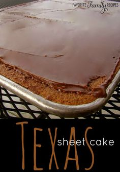 This is the best Texas Sheet Cake recipe. It is a HIT at potlucks and BBQs.