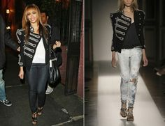 Remember Balmain's ankh-embellished denim jeans worth €6500? Now they have something better to boast of – a black crystal embellished military-inspired canvas. Beyonce was seen wearing this blinged jacket. The black canvas double-breasted jacket features crystal-embellished frogging, high neck, angular shoulder pads, buttons, three-quarter length sleeves and buttoned side panels. If you want to add a bit of glamour to your wardrobe, the shimmering jacket is available at net-a-porter for…