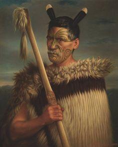 A portrait of the Maori Rewi Manga Maniapoto, by Gottfried Lindauer. Maori Face Tattoo, Ta Moko Tattoo, Maori Tattoos, Polynesian People, Polynesian Art, New Zealand Tattoo, New Zealand Art, Maori People, Maori Tattoo Designs