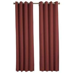 Ultimate Blackout Polyester Grommet Curtain Panel 56 in. W x 63 in. L Garnet