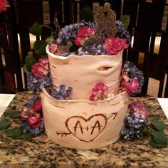 Wedding cake design by our pastry chef Bill at Larkspur Events and Dining in Vail, Colorado.  #weddingcake #larkspurvail #coloradodestinationweddings #vailweddings