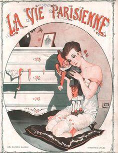 Christmas after the war. French magazine, La vie parisienne, 1919. Art by Georges Léonnec.