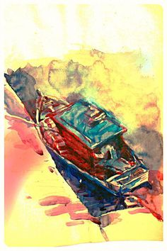 low tide (scene 1) - Creative Art in Painting by Schem Tyong in Portfolio My Scrapbook at Touchtalent