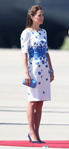 Catherine arrives at the Royal Australian Airforce Base at Amberley on April 19, 2014 in Brisbane, Australia.
