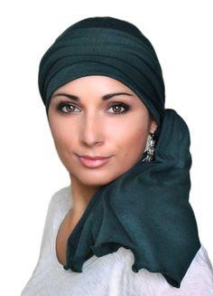 Turban Head Wrap Alopecia Chemo Head Scarf Forest by TurbanDiva
