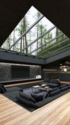 Dream House Interior, Luxury Homes Dream Houses, Dream Home Design, Modern House Design, My Dream Home, Glass House Design, Dream Homes, Modern Glass House, Cool House Designs