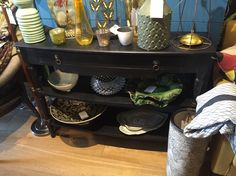 Black wooden Console table