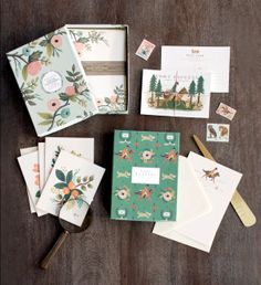 More beautiful paper to send your loved ones some love from Rifle Paper Co.  These colors  go with so many moods and seasons.  Now at Parlett's