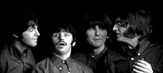 gif Black and White rock the beatles Paul McCartney john lennon ringo starr george harrison legend