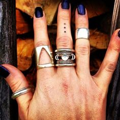 Love everything! Metal, tattoos, blue nails!
