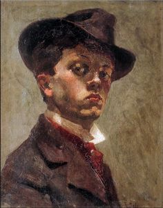 Raoul Dufy (1877-1953) • Autoportrait au chapeau mou, vers 1898