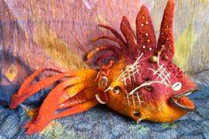 felt fish purse