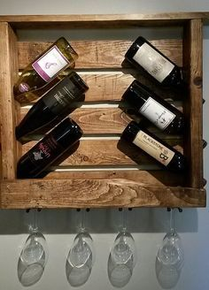 Rustic Wine Rack 6 Bottle 153 by Bustedpallet on Etsy