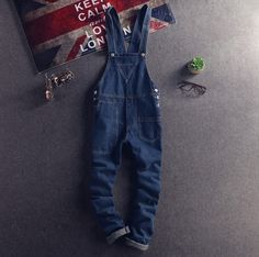 8bca083bfcd3 Japanese Style Mens Bib Overalls Spring Autumn Fashion Denim Overalls For  Men Suspenders Jeans Ripped Male