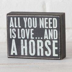 Love+and+A+Horse+Box+Sign Item # 92208