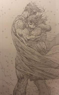 Pencils from Superman Unchained #9 by Jim Lee.