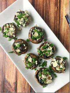 Blue Cheese Bacon Cranberry Stuffed Mushrooms | YoursAndMineAreOurs