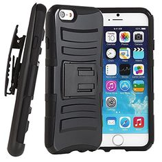 iPhone 6 Case, VAKOO® [Heavy Duty] For iPhone 6 Belt Clip Case Shockproof Drop Resistant Combo Shell Holster Cover Dual Layer Rugged Soft Silicone Armor Kickstand Slim Case BLACK For Apple iPhone 6 4.7 inch Vakoo http://www.amazon.com/dp/B00MHTIN2Y/ref=cm_sw_r_pi_dp_FUznvb02HS9PD