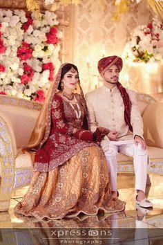 Couple Wedding Dress, Wedding Wear, Wedding Bride, Sherwani Groom, Wedding Sherwani, Asian Wedding Dress Pakistani, Pakistani Dresses, Bridal Pics, Bridal Pictures