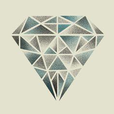 Rough Diamond Art Print by Farnell | Society6