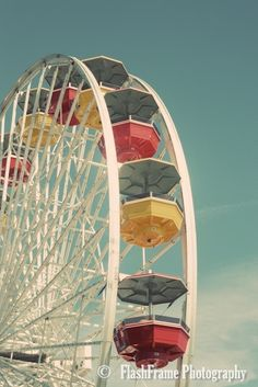 Vintage Ferris Wheel 3 -  Fine Art Photograph Print. $20.00, via Etsy.