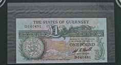 Guernsey United Kingdom One Pound UNC Condition World Banknote Currency Money NR