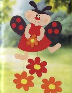 Baú da Web: Moldes de Joaninhas Easter Crafts, Diy And Crafts, Crafts For Kids, Arts And Crafts, Class Decoration, School Decorations, Spring Art, Spring Crafts, Mobile Craft