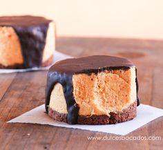 Dulces bocados: Mousse de calabaza, caramelo y chocolate