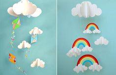 moviles de papel para ninos 1 Móviles de papel para niños