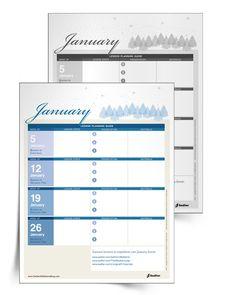 A Catechist's Calendar: January Lesson Preparation Planner #Catholic #Calendar #Parish #Catechist #Freebie