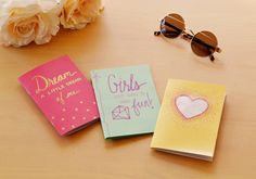Creat easy DIY notepads to jot down your ideas!  From Spark & Chemistry blog