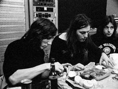 Pink Floyd, dec.1971, Europa Sonore Studios, France. © Adrian Maben