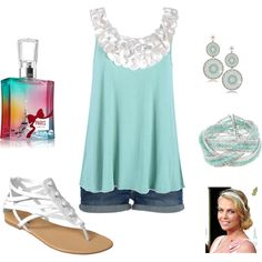 pearl & turquoise, created by abstephens06.polyvore.com