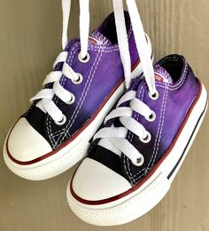 5b63c07dba3 Tie Dyed Converse Infant Toddler Shoes Size 6 ~ Purple and Black Hand Dyed  All Stars