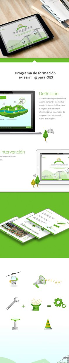 E-learning, Formación de OES on Behance