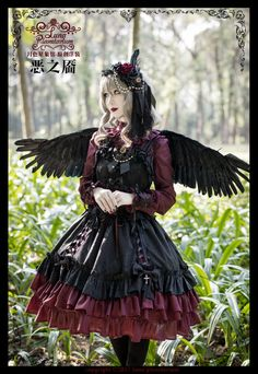 Luna Planetarium -Dimples of Evil- Gothic Lolita Jumper Dress #Leftovers