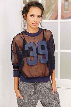 JOA Athletic Mesh Sweatshirt