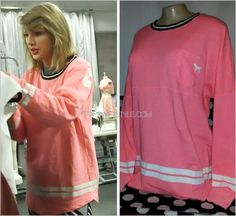 1989 World Tour BTS (x)  Victoria's Secret 'Long Sleeve Varsity Sweatshirt' - no longer available