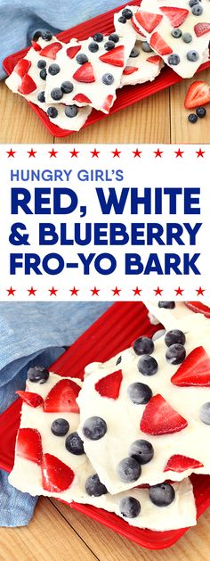 Red, White & Blueberry Fro-Yo Bark + More Healthy 4th of July Recipes | Hungry Girl