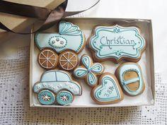 Personalised Newborn Baby Boy Cookie Gift Box (free UK shipping) £21