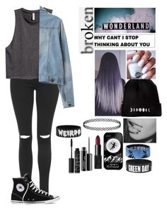 """Untitled #453"" by bullying-stops-here259 ❤ liked on Polyvore featuring Topshop, H&M, Disney, Converse, Samsung, NARS Cosmetics and MAC Cosmetics"