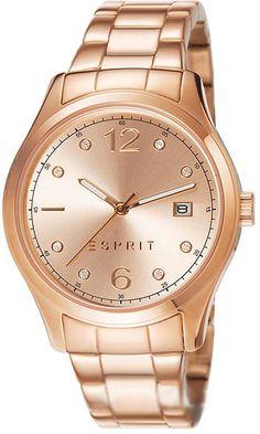Zegarek damski Esprit ES106692003 - sklep internetowy www.zegarek.net Watches Online, Casio, Gold Watch, Chronograph, Rolex Watches, Fossil, Dame, Bracelet Watch, Rose Gold